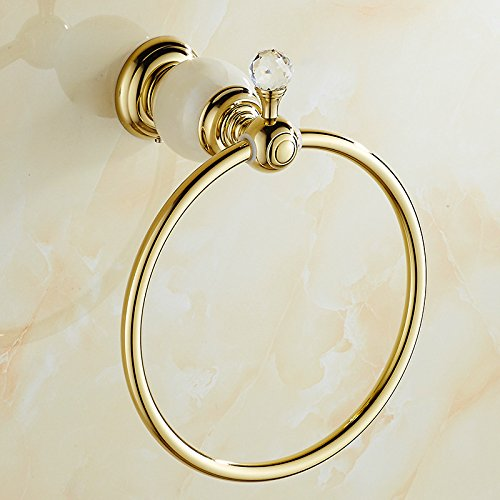 ZnzbztJade towel ring around Gold over copper-colored marble Towel Ring Towel Ring, Jade Green)