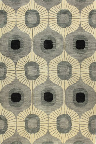 Bashian chelsea collection ST103 7.6X9.6 hand tufted 100% wool area rug, 7.6′ x 9.6′, Grey