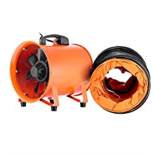VEVOR Utility Blower Fan 10 Inch Portable Ventilator High Velocity Utility Blower Mighty Mini Low Noise with 5M Duct Hose (10 Inch with 5M Duct Hose)