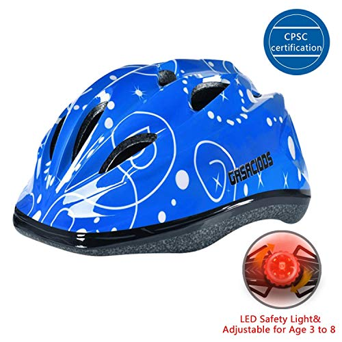 GASACIODS Kids Child Adjustable Safety Helmet for Scooter Skateboard Rollerblading Inlineskating Cycling Bike Mutli-Sport for 3-8 Year Old Girls/Boys (Blue)