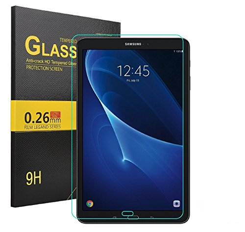 Galaxy Tab A 10.1 Screen Protector, IVSO Ultra-Thin 9H Hardness HD Clear& Premium Tempered Glass Screen Protector for Samsung Galaxy Tab A SM-T580N/SM-T585N 10.1-inch 2016 Tablet(1pcs)