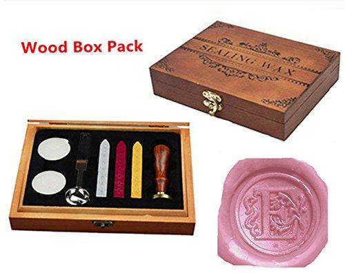 Luxury Letter E Wood Gift Box