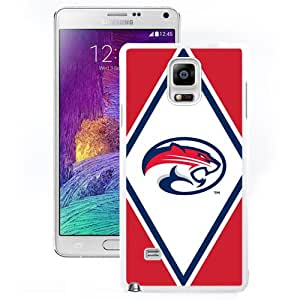 NEW Personalized Customized Galaxy Note 4 Case with NCAA American Athletic Conference AAC Football Houston Cougars 2 Protective Cell Phone Hardshell Cover Case for Samsung Galaxy Note 4 N910 N910S N910C White