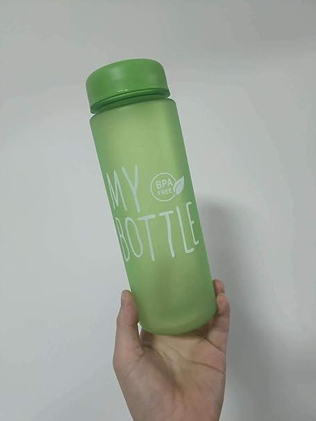 chenaa Vaso de plástico Esmerilado Vaso de limón 500ml Verde,Vaso ...