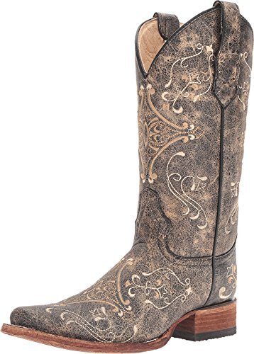 Corral Boots Women 's L5078 Brown /Bone Boot, 10.5 B(M) US