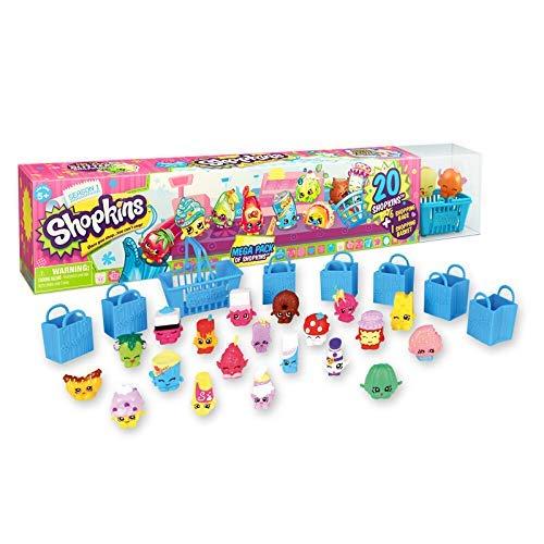 Shopkins Season 1 Mega Pack Bundle of 20 Shopkins, 6 Shopping Bags, 1 Shopping Basket and 1 Collectors Guide -