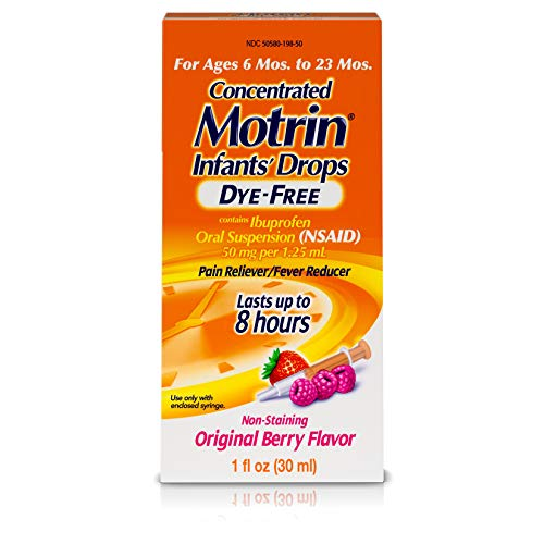 Infants' Motrin Concentrated Drops, Fever Reducer, Ibuprofen, Dye Free, Berry Flavored, 1 - Motrin Childrens