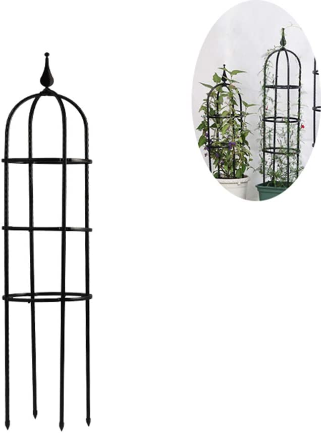 1.2m Metal Garden Obelisk Outdoor Trellis Climbing Plant Support Frame Heavy Duty Strong Tubular Plant Cage Climbing Plant Ivy Flowers Stands,120cm