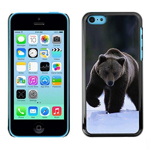 Omega Case PC Polycarbonate Cas Coque Drapeau - Apple iPhone 5C ( The Winter Grizzly Bear )