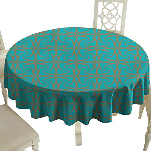 WinfreyDecor Fabric Dust-Proof Table Cover Tulips Ottoman Motif for Kitchen Dinning Tabletop Decoration D43