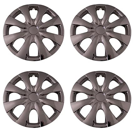 Amazon.com: Set of 4 Chrome 15 Inch Universal 8 Spoke Replica of Toyota Corolla Hubcaps with Clip Retention System - Aftermarket: IWC450/15C: Automotive