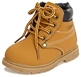 Poppin Kicks Boy Girl Soft Toe Waterproof Pu Leather Insulated Winter Snow Boots 11.5 M Us Little Kid Tan | amazon.com