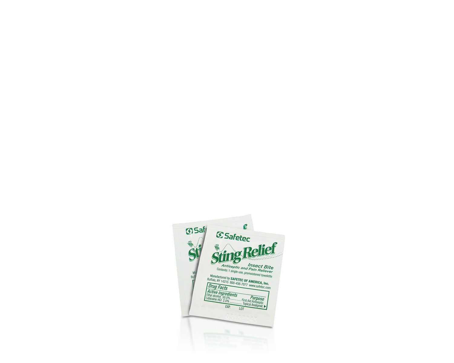 Safetec Sting Relief Wipes (Bulk Package - 3000 count)