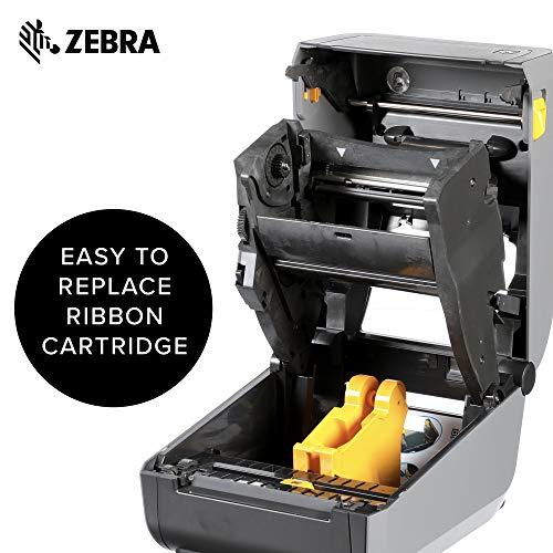 Zebra - ZD420t Thermal Transfer Desktop Printer for Labels and Barcodes - Print Width 4 in - 203 dpi - Interface: USB - ZD42042-T01000EZ by Zebra Technologies (Image #3)