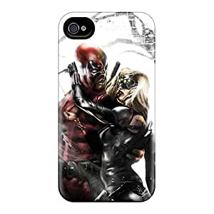 Premium Deadpool I4 Back Cover Snap On Case For Iphone 4/4s
