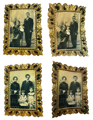 Spooky Halloween Lenticular Pictures - Face Moving and Changing for Haunted House Decorations - Set of 2