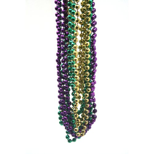 Mardi Gras Beads Necklaces - Mardi Gras Disco Ball Beads 1 dozen