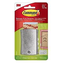 Command Universal Picture Hanger w/ Stabilizer Strips, Jumbo, 1-Hanger (17048-ES)