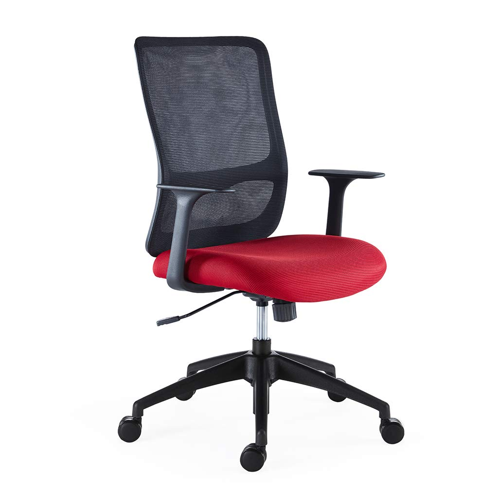 Sunon Olive Task Office Chair With Height Adjustable (Red)