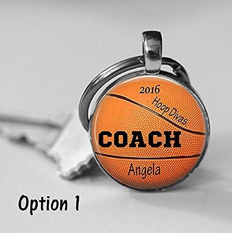Entrenador de baloncesto trofeo personalizado de cristal collar de ...