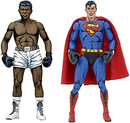 "SUPERMAN vs MUHAMMAD ALI DC Comics 7/"" inch Action Figure 2-pack Neca 2017"