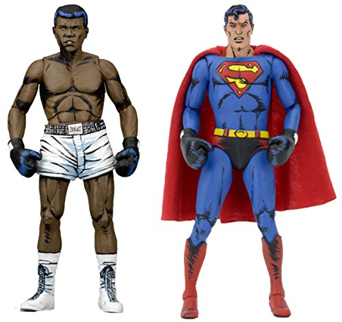 Superman Products : NECA DC Comics Superman vs Muhammad Ali Special Edition Action Figure (2 Pack), 7