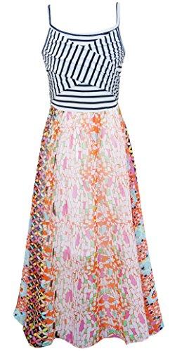 Truly Me, Girls Maxi Dresses (Many Options), 4-6X, 7-16 (10, Orange Multi) -