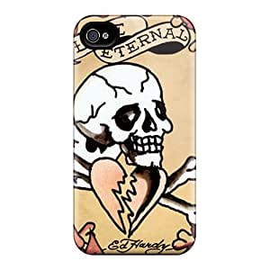 Iphone 4/4s XOs2783GhqM Provide Private Custom Vivid Ed Hardy Pictures Durable Hard Cell-phone Case -AlissaDubois