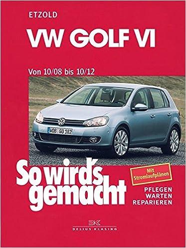 VW Golf VI von 10/08 bis 10/12: Benziner 1,2l/ 63kW 85 PS 6/10-10/12 bis 2,0l/199kW 270 PS 12/09-10/12. Diesel 1,6l/ 66kW 90 PS 5/09-10/12 bis 2,0l/ 125kW ...