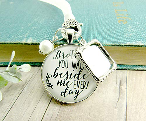 Pictures Of Wedding Flower Bouquets - Bridal Bouquet Charm Brother Memorial Picture