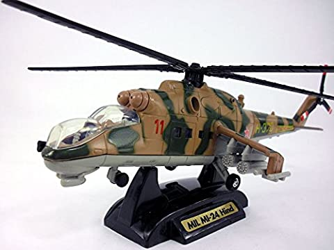 Mil Mi-24 Hind Helicopter Gunship 1/60 Scale Diecast Metal Model - Mi 24 Hind Helicopter