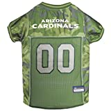 Pets First NFL ARIZONA CARDINALS CAMOUFLAGE DOG JERSEY, Medium. - CAMO PET Jersey available in 5 sizes & 32 NFL TEAMS. Hunting Dog Shirt