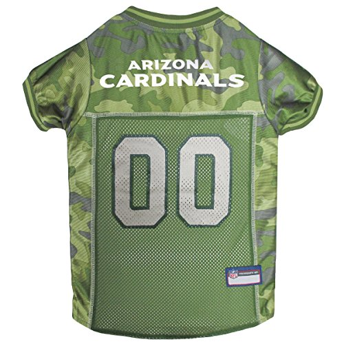 Pets First NFL ARIZONA CARDINALS CAMOUFLAGE DOG JERSEY, Medium. - CAMO PET Jersey available in 5 sizes & 32 NFL TEAMS. Hunting Dog Shirt by Pets First