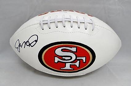 buy online 54587 09c52 Joe Montana Autographed San Francisco 49ers Logo Football ...