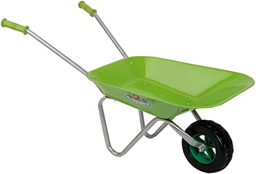 Esschert Design KG97 Carrito de jardín y Carretilla Wheelbarrow - Carritos de jardín y carretillas (Wheelbarrow, 1 Rueda(s), Ruedas sólidas, Metal, Negro, Verde, Gris, 6,5 L): Amazon.es: Jardín