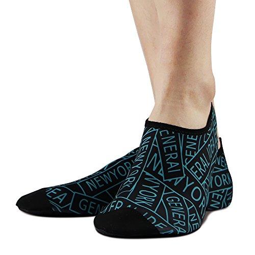 Torden Unisex Barbeint Hud Sko Polyester Sokker For Yoga Trening, Treningsstudio, Utendørs Gange, Strand Vannsport Brev