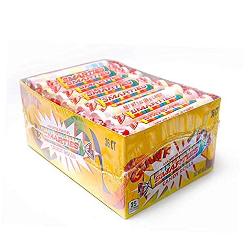 (Giant Jumbo Smarties-36ct-Individually Wrapped Smarties with Counter Top Box by Smarties)
