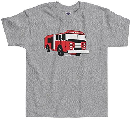 Threadrock Little Boys' Fire Truck Toddler T-Shirt 3T Sport Gray