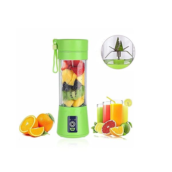 500ml USB Juicer Cup 6 Blades,Portable Fruit Blender Smoothie,Water Bottle Rechargeable Juice Blender Electric Fruit Mixer Personal Size Fruit Mixing Machine