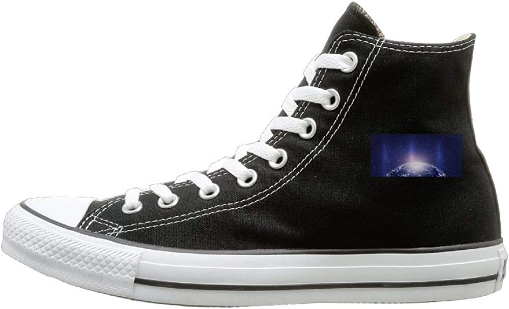 Sakanpo Star Canvas Shoes High Top Casual Black Sneakers Unisex Style