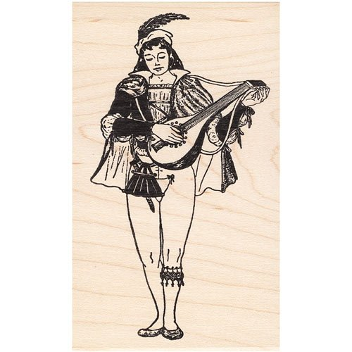 Royal Rubber Stamp - Court Musician Rubber Stamp