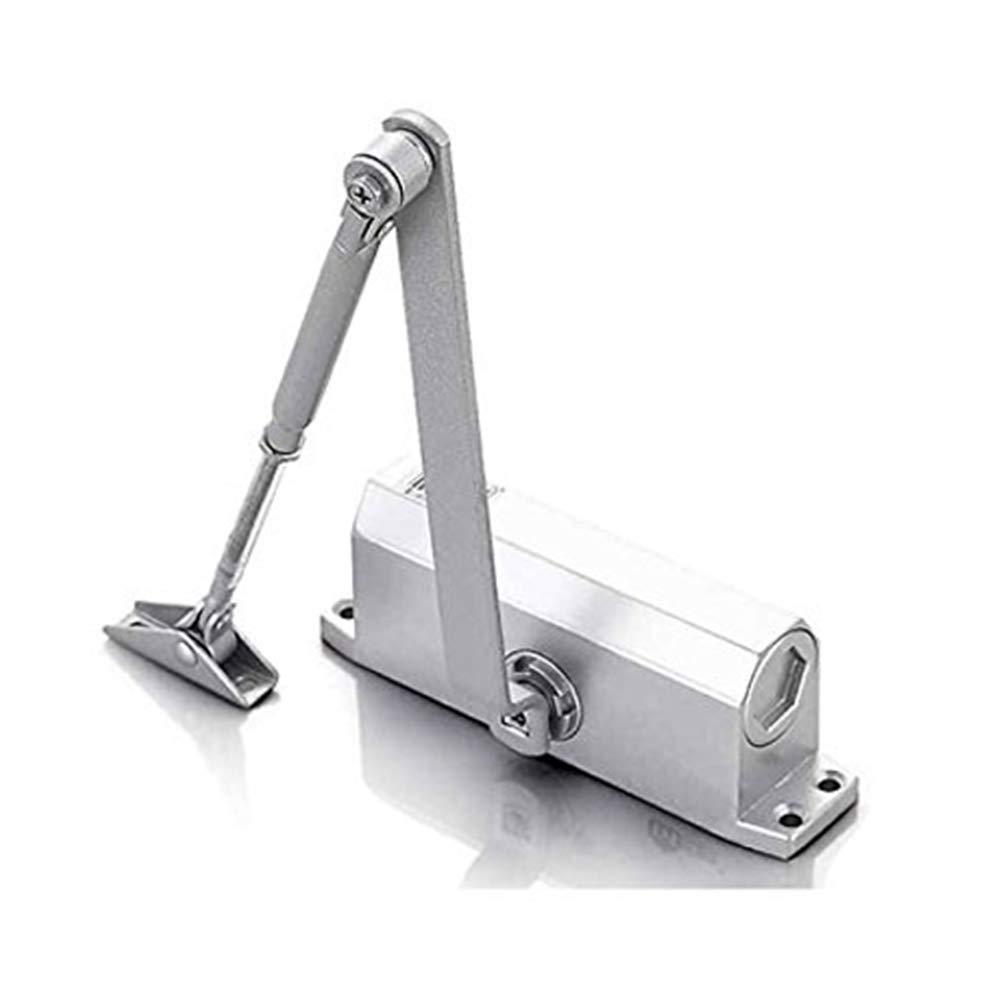 Mulslect Hardware Commercial Grade Door Closer, Door Controls for 100lbs to 145lbs, Sprayed Aluminum