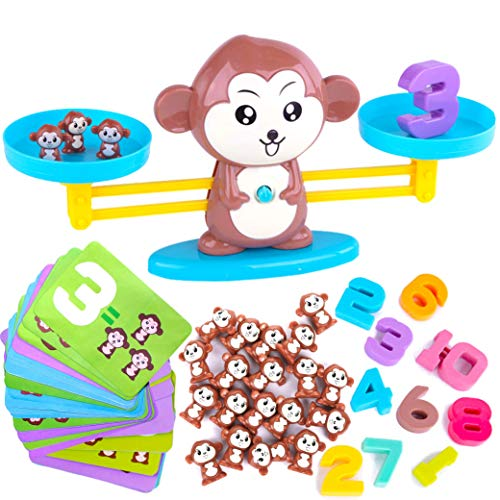 CoolToys Monkey Balance Cool Math Game for Girls & Boys | Fun, Educational Children's Gift & Kids Toy STEM Learning Ages 3+ (65-Piece Set) -