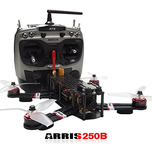 ARRIS X-Speed 250B V2 250 FPV Quadcopter Racing Drone RTF W/ Flycolor Raptor 390 Tower 4-in-1 (30A ESC + F3...