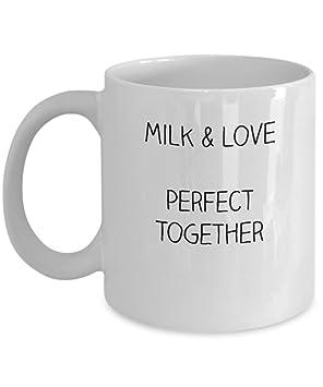 Taza de café para lactancia materna con leche y amor perfectas ...