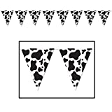 Cow Print Pennant Banner Party Accessory (Value 3-Pack)