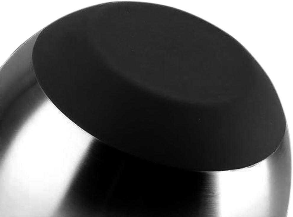 Ciotole in acciaio INOX con base e coperchio in silicone antiscivolo 24cm Come da immagine