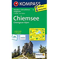 KOMPASS Wanderkarte Chiemsee - Chiemgauer Alpen: Wanderkarte mit Aktiv Guide, Radwegen und Loipen. GPS-genau. 1:50000: Wandelkaart 1:50 000 (KOMPASS-Wanderkarten, Band 10)