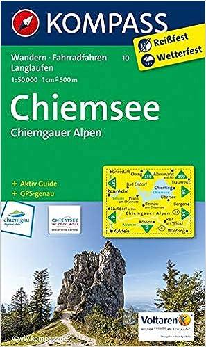 Chiemsee Karte Region.Kompass Wanderkarte Chiemsee Chiemgauer Alpen Wanderkarte