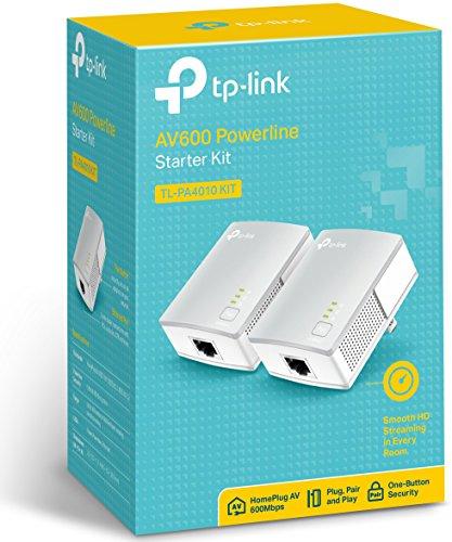 TP-Link AV600 Nano Powerline Adapter Starter Kit, up to 600Mbps (TL-PA4010KIT)